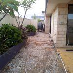 Brennan Backyard Earthworks/Concrete Before